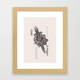 Rose & Dagger Framed Art Print