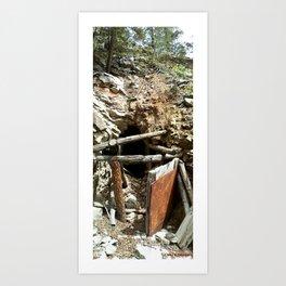 Colorado Gold Rush Mine and Cabin, No. 2 of 3 Art Print