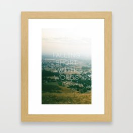 Falling Short Framed Art Print