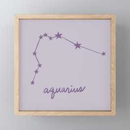 Aquarius - Zodiac Constellation Framed Mini Art Print