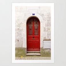 Little Red Door Art Print