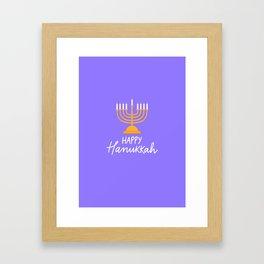 Hanukkah candles purple Framed Art Print