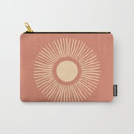 Sun Burst - Dust Pink Carry-All Pouch