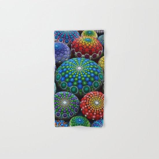 Jewel Drop Mandala Stone Collection #1 Hand & Bath Towel