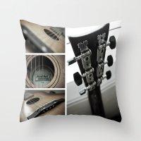 guitar Throw Pillows featuring Guitar by TJAguilar Photos