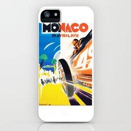 Grand Prix Monaco, 1931, vintage poster iPhone Case