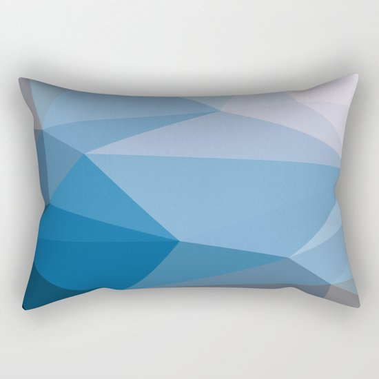 Shades Of Blue Triangle Abstract Rectangular Pillow