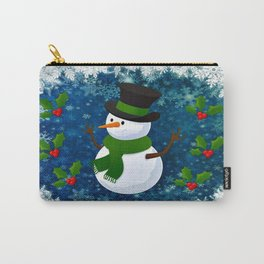 Snowman - Happy Holidays Carry-All Pouch