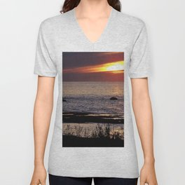 Surreal Seaside Sunset Unisex V-Neck