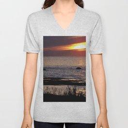 Surreal Seaside Sunset Unisex V-Neck