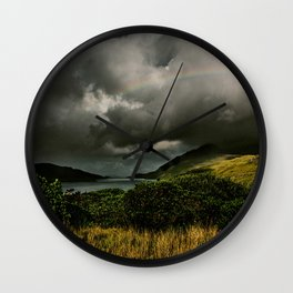 Galway Ireland Green Mountain Lake Wall Clock