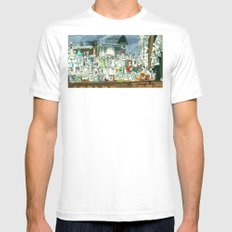 The Locals White MEDIUM Mens Fitted Tee