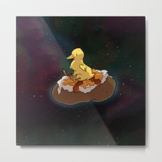 Space Duck Metal Print
