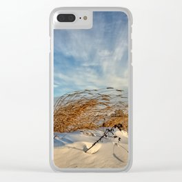 Snow Dunes Clear iPhone Case