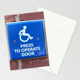 Press To Operate Door Stationery Cards
