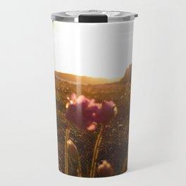 Flowers sunset 2 Travel Mug