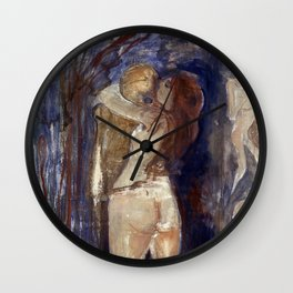 Death and Life by Edvard Munch Wall Clock
