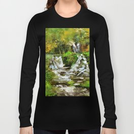 Waterfall Illustration  Long Sleeve T-shirt