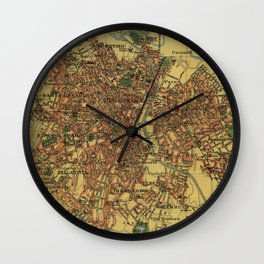 Vintage Map of Sao Palo Brazil (1913) Wall Clock