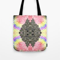 monika strigel Tote Bags featuring Monika by Ancient Origin