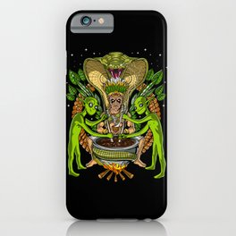 Ayahuasca DMT Aliens Shaman iPhone Case