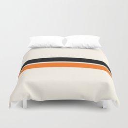 2 Stripes Black Orange Duvet Cover