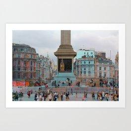 London I - The Nelson's Column  Art Print