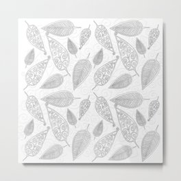 Color Me Leaves Metal Print