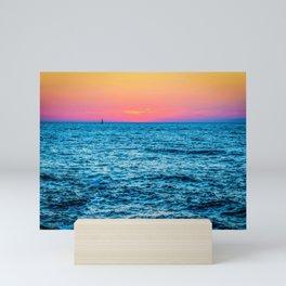 Sunset in Tel Aviv Mini Art Print