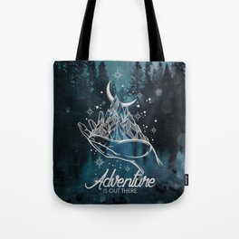 Adventure Is Out There Forest Lake Reflection - Nature Photography Tote Bag