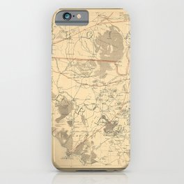 Vintage Map Print - Northern Part of Florida, from United States Coast Survey, 1864 iPhone Case