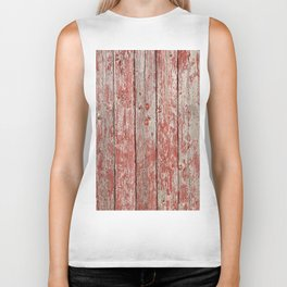 Rustic red wood Biker Tank