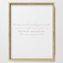 The Four Agreements 16 #minimalism #inspirational Serving Tray