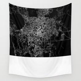 orlando map Wall Tapestry