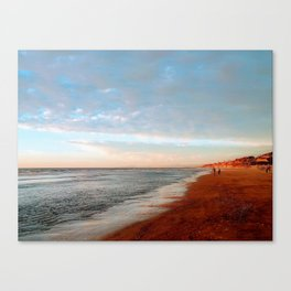 Winter Walk on the Beach Canvas Print