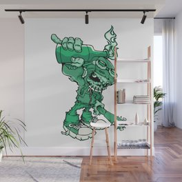 Anarchy Skeleton - Mountain Meadow Wall Mural