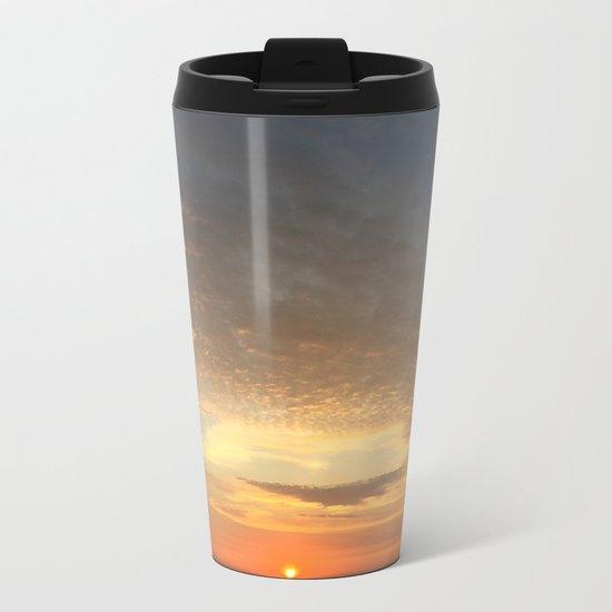 Yellow and Orange Sunset Metal Travel Mug
