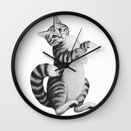 calico cat Wall Clock