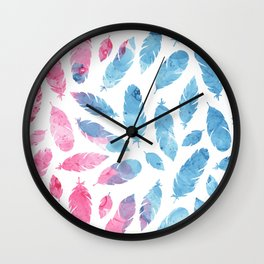 Peaceful Feather Wall Clock