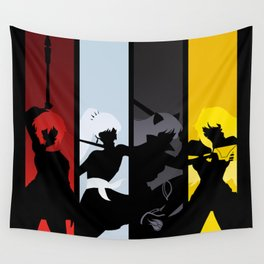 Silhouetted Huntresses Wall Tapestry