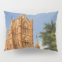 vintage Palermo Sicily Italian travel ad Pillow Sham