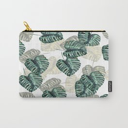 Philodendron Leaves on White  Carry-All Pouch
