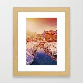 Snow World Switzerland Kandersteg Framed Art Print