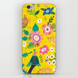 The yellow vision of the little bird iPhone Skin