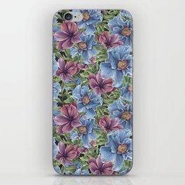 Hibiscus Flowers on Chalkboard iPhone Skin