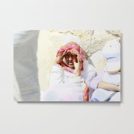 Ethiopian girl at the church Metal Print