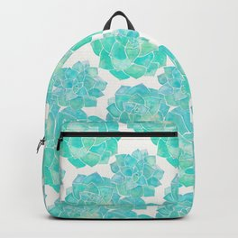 Rosette Succulents – Turquoise Palette Backpack