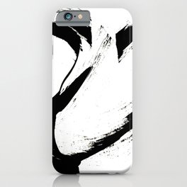 Brushstroke 6: a minimal, abstract, black and white piece iPhone Case
