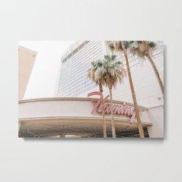 Flamingo Hotel Metal Print