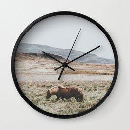 Hrútafjörður, Iceland II Wall Clock